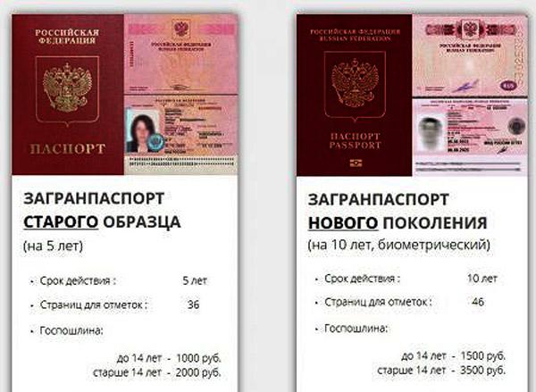 Отличия загранпаспорта старого и нового образцов